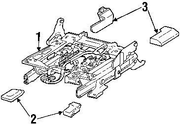 2010 Lincoln Town Car Executive L Tracks & Components Diagram