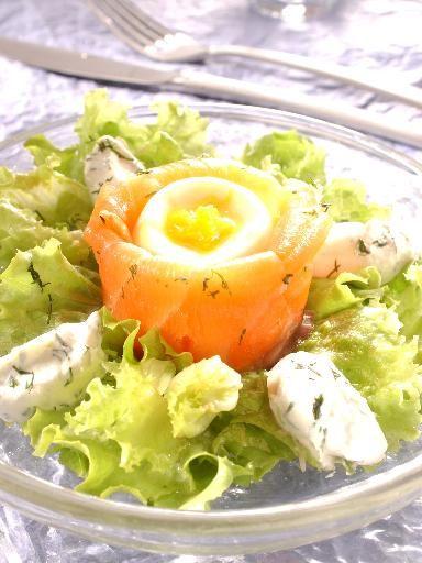 Recette Ballotins de saumon fumé aux oeufs mollets, notre recette Ballotins de saumon fumé aux oeufs mollets - aufeminin.com
