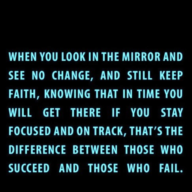 Stay on track....