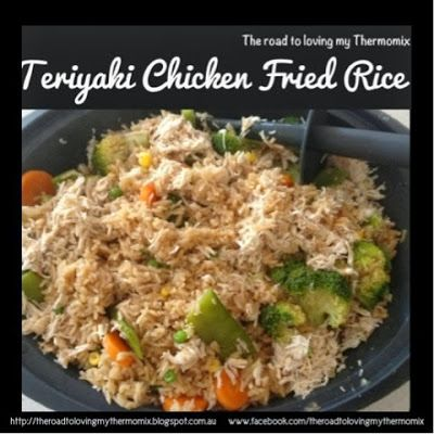 The road to loving my Thermomix: Teriyaki Chicken Fried Rice