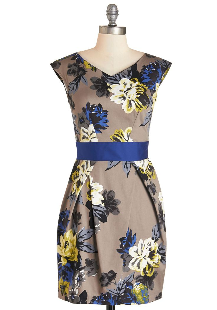 Lunch with the Ladies Dress. Make your daytime dining exquisite with this fabulous floral dress, by UK brand Closet!  #modcloth