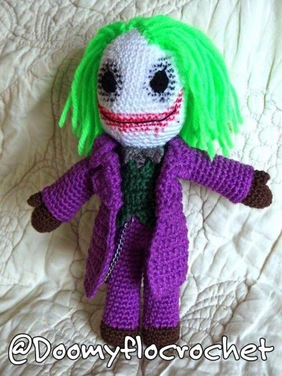The #Joker Figurine en coton au crochet par doomyflocrochet #batman #dccomics