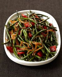 Chinese Long Beans with Cracked Black Pepper Recipe on Food & Wine