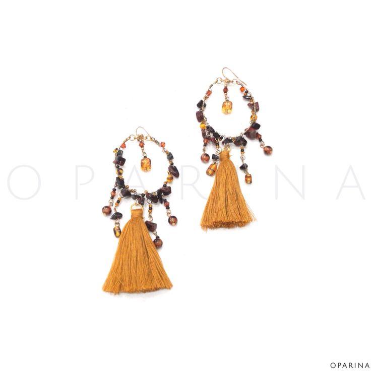Aretes Gypsy de Borlas. #oparina #statement #earrings #borlas #gypsyearrings #gypsy #handmade #handcraft