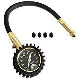 #6: Motor Luxe Tire Pressure Gauge 100 PSI - Accurate Heavy Duty Air Pressure Tire Gauge For Your Car Truck and Motorcycle - 4 Free Valve Caps
