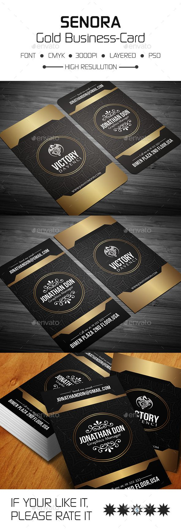 Senora Gold Business Card — Photoshop PSD #stylish #htmlexplorer • Download ➝ https://graphicriver.net/item/senora-gold-business-card/17747569?ref=pxcr