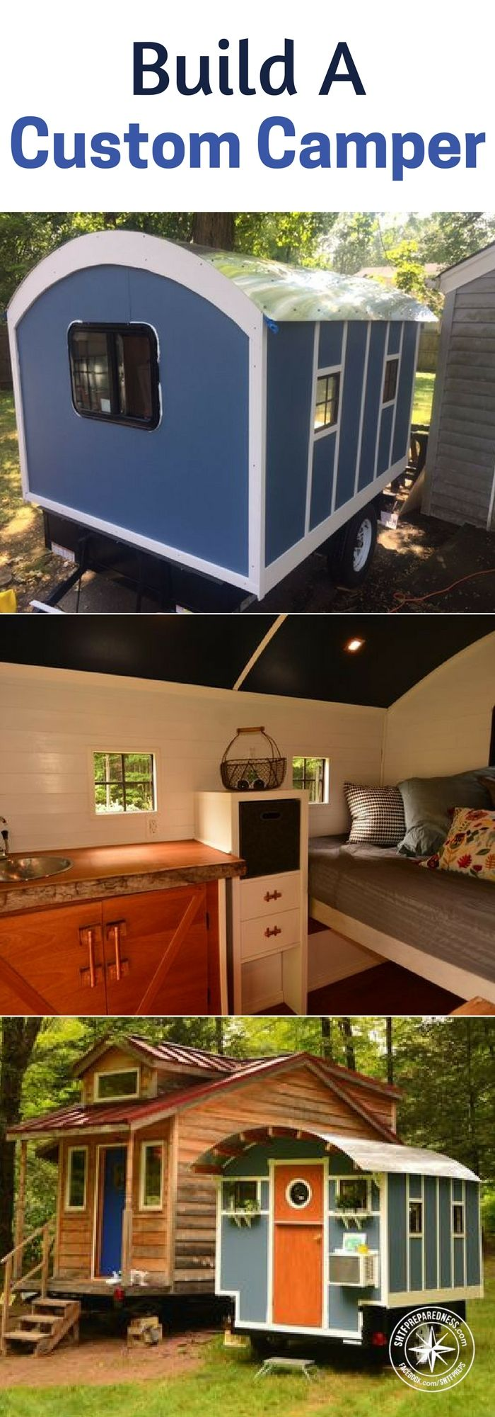 Build A Custom Camper - This little camper design could be an answer to your concerns about the bugout. We are always looking at better ways to bugout.