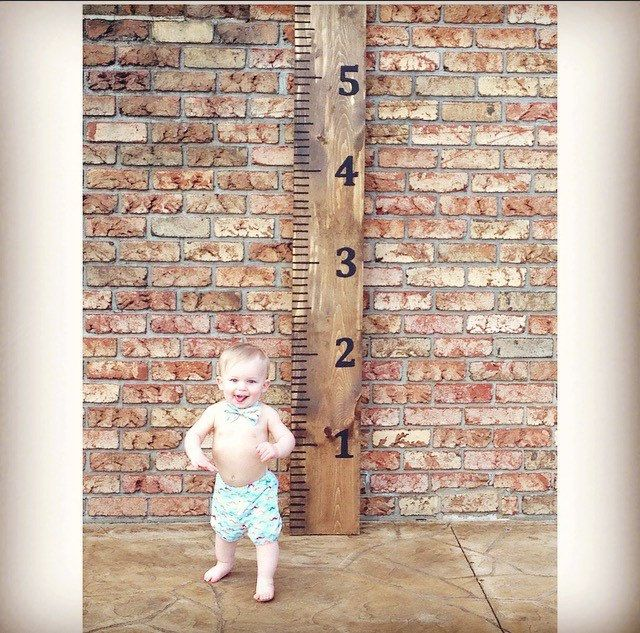7ft Wooden Growth Chart Ruler, Wood Growth Chart, Milestone Tracker, Kids Growth Chart- Baby Growth Chart, Nursery, Baby Shower Gift by KayZCustom on Etsy