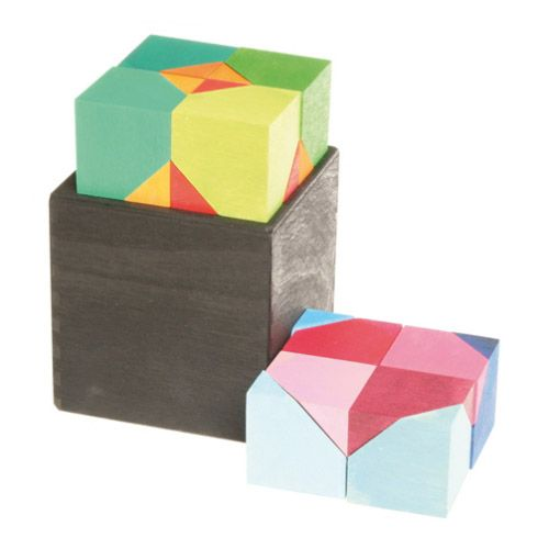 [Grimm's Spiel & Holz Design グリムス社]六角体ボックス 16P