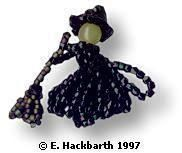 Tiny Witch Doll Free Bead Pattern  Made with Seed Beads and Tubular Peyote Stitch