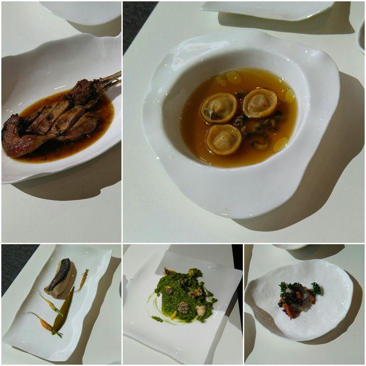 Selección de platos presentados en #forumcoruña2017 por Iván Domínguez, de Alborada.
