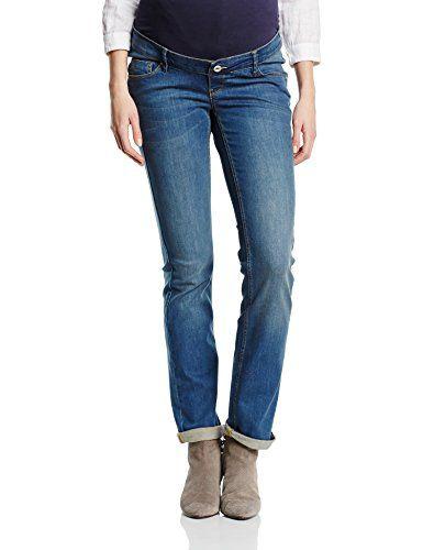 Noppies Damen Straight Leg Umstands Jeans OTB reg Sabine, Gr. 36 (Herstellergr��e: 29), Blau (Dark Stone Wash C296)