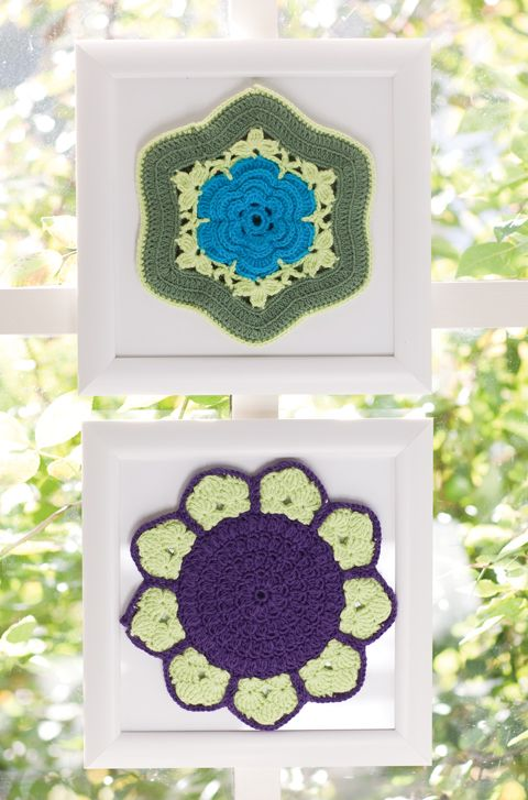 Irish Rose & Sunflower Potholders   crochet today