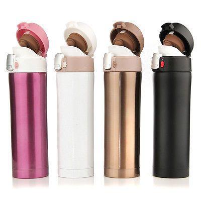 500ML Stainless Steel Travel Mug Coffee Water Vacuum Flask Thermal Cup Bottle