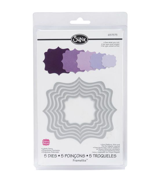 Sizzix Framelits Dies 5/Pkg-Fancy Labels, , hi-res