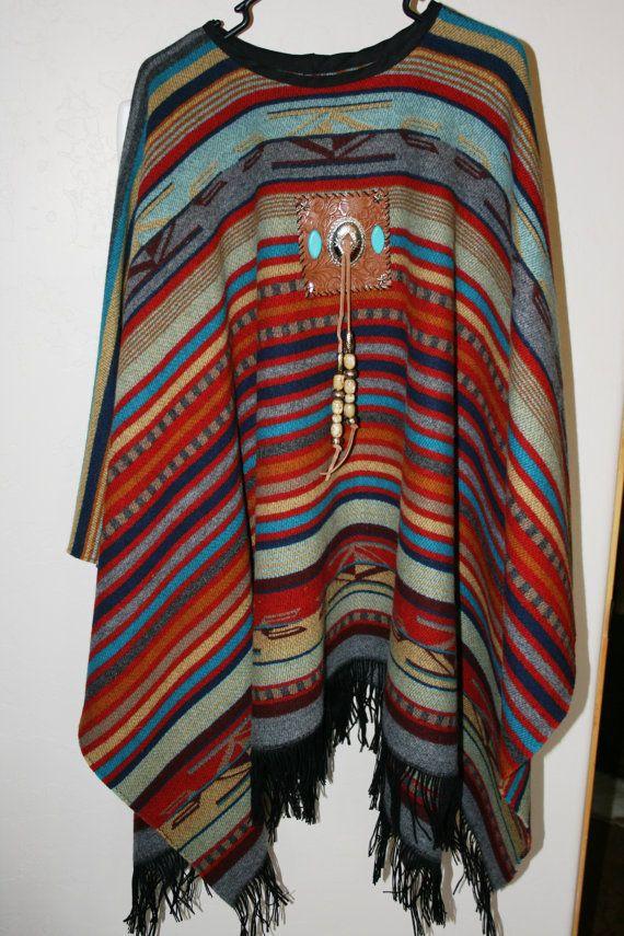 Western Wool  Poncho by micheleturney on Etsy, $275.00