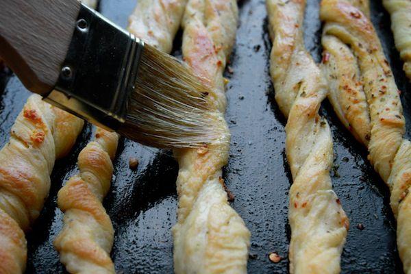 Garlic Herb Bread Twists // shutterbean