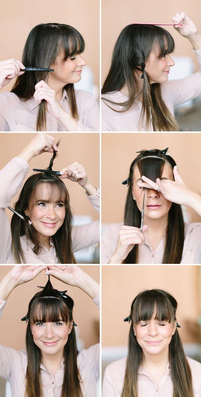 How To Trim Your Own Bangs  Beauty Inspiration  Trim Bangs Trim