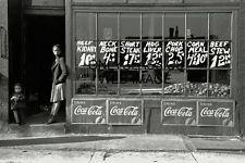 '41 SOUTH SIDE MARKET MEAT STORE CHICAGO IL PHOTO BLACK AMERICANA COCA-COLA SIGN