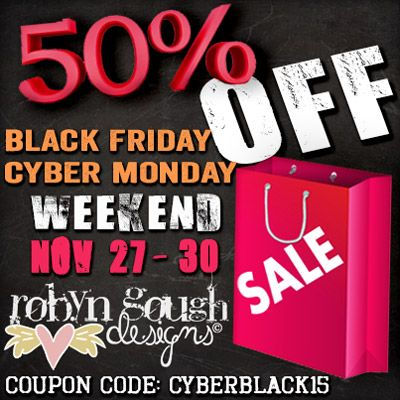 Black Friday Cyber Monday Weekend 50% Off SALE!