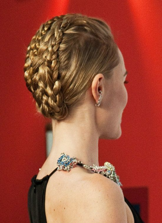 You've heard of the mohawk and you've probably heard of the undercut trend, but this braided look on Kate Bosworth is something completely new.