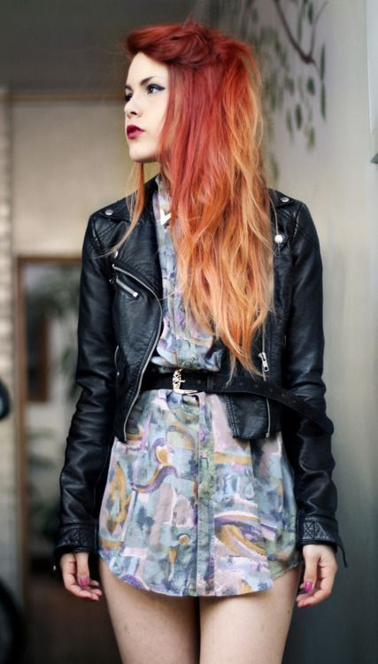 grunge fashion tumblr love this hair color beauty