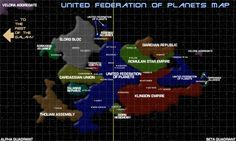 Image result for united federation of planets map