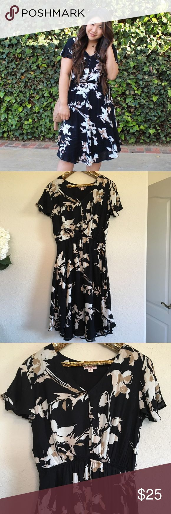 Merona Floral Dress This Merona floral dress has only been worn once so it's in perfect condition! It's perfect for fall and can easily be dressed up or down! It has a cinched waist and is fully lined.  🚭 From a smoke-free home ❌ No trades or off PoshMark sales 🛍 Bundles welcome and encouraged 👌🏻 Reasonable offers welcome ⚡️ Same/next day shipping 🌬 All items are steamed before shipping Merona Dresses