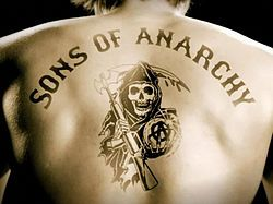 "Sons of Anarchy: Charlie Hunman (yum) and Katie Segal is so intense as the ""momma bear"""