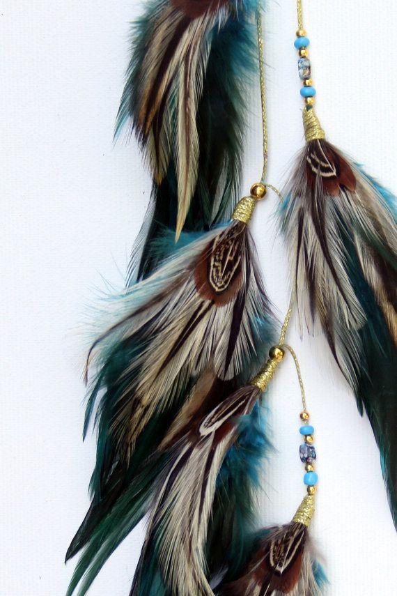 Haar veren. veren voor haar. Feather extensions. veren. haarverlenging. haaraccessoires. veer haar clip. Tribal. Tribal haar, Festival accessoires, meisjes accessoires. Prachtige veren haarverlenging / Permanent haarjuwelen / tijdelijke haar decoratie / haarband. Deze uitbreiding is