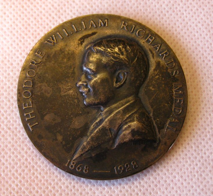 Cyrus E. Dallin, an important American sculptor, created the Theodore William Richards medal for the Northeastern Section of the American Chemical Society.  Richards was the first American to win a Nobel Prize in Chemistry (1914).  This particular medal was awarded to Claude Hudson, a founder of carbohydrate chemistry, who became the last Professor of Chemistry at the Hygienic Laboratory (now the National Institutes of Health #NIH).