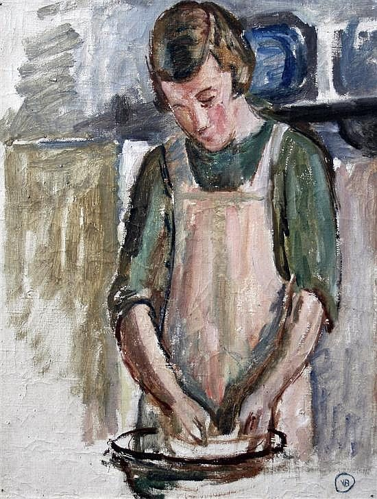 ✽   vanessa bell  -  study for 'grace in the kitchen'  -   oil on canvas  - gorringes