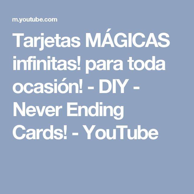 Tarjetas MÁGICAS infinitas! para toda ocasión! - DIY - Never Ending Cards! - YouTube