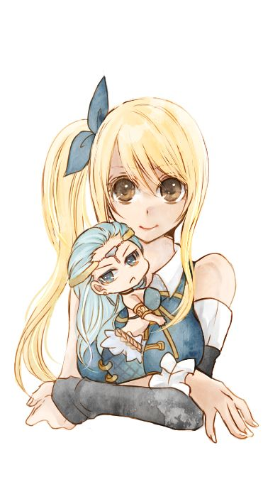 Lucy and Aquarius...*starts crying* Why? WHY HIRO MASHIMA?!?!?! I DIDNT NEED MY HEART ANYWAY?!?!?