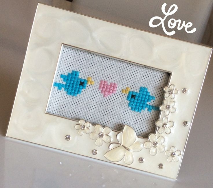 Cross stitch,birds,love