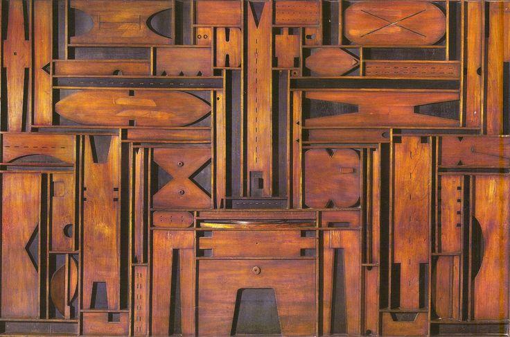 1966, Guillermo Fernandez (Montevideo, Uruguay 1928-2007): Madera constructiva, 220 x 400 cm.