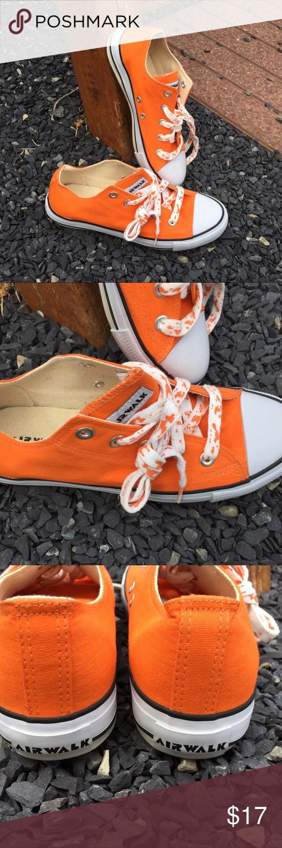 Airwalk Orange Sneakers Size 7.5 Size 7.5. Super gently preowned. Be sure to view the other items in our closet. We offer  women's, Mens and kids items in a variety of sizes. Bundle and save!! Thank you for viewing our item!! Airwalk Shoes Sneakers