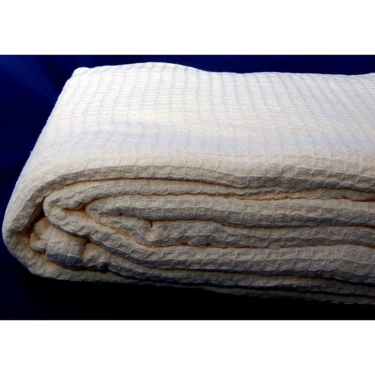 LCM Home Fashions All Season Cotton Thermal Blanket Ivory - B052B