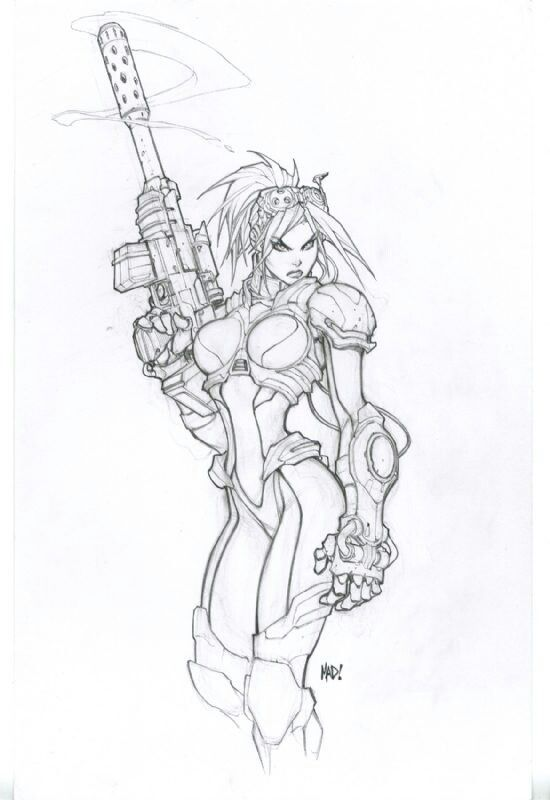 Nova From StarCraft by Joe Madureira