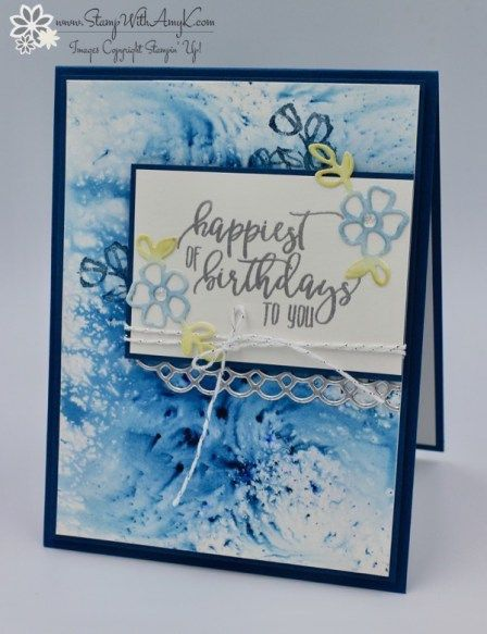 Stampin Up Picture Perfect Birthday Card Stamp With Amy K