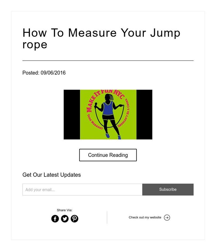 How to measure your jump rope jump rope jump rope