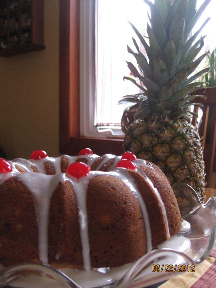 "Pineapple ""Inside Out""  Bundt CakeCake Recepies, Bundt Cakes, Desserts Cake, Baking Bundt, Pineapple Inside, Desserts Yum, Bundt Pound, Cake Yummy, Cake Recipes"