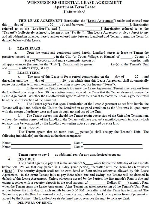 Rental Lease Agreements template Rental agreement templates