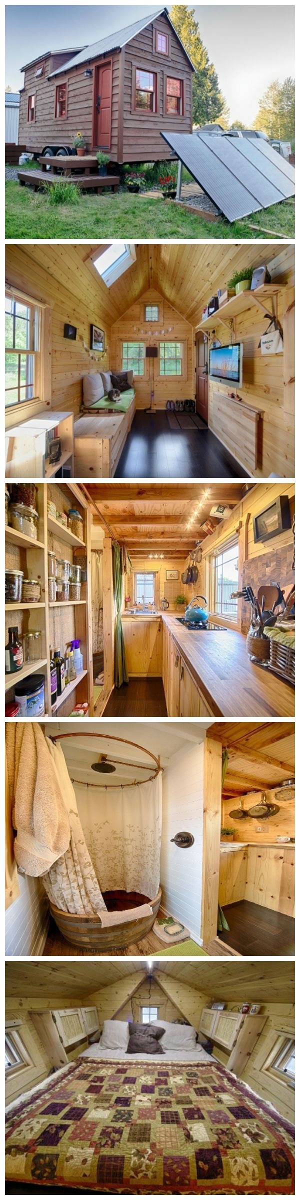 The Tiny Tack House - I don't think I could live here, but I see some cool ideas for my place. Or this might be a nice camping cabin. LW