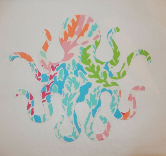 New Made To Order Octopus Pillow Made With Lilly Pulitzer Fabric. Many  Prints To Choose