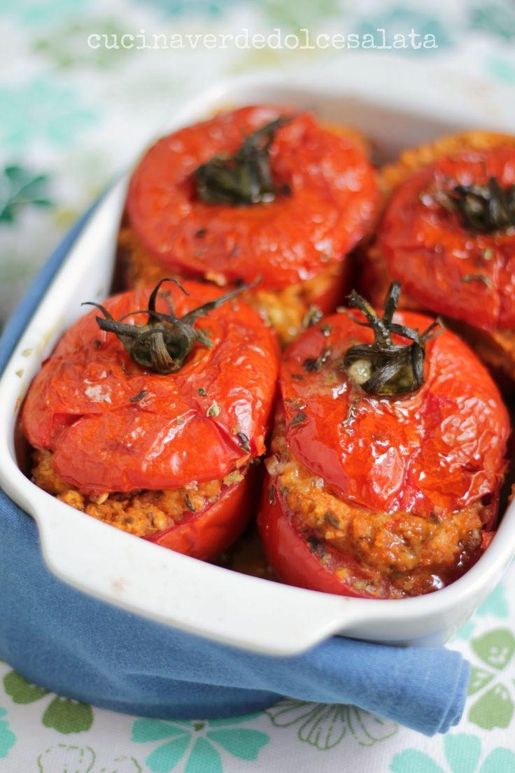 cucina verde dolce e salata: Pomodori ripieni di fiocchi di avena