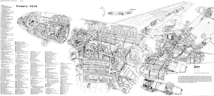Vickers VC10 super-detailed cutaway
