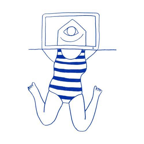 Working on Summer. Illustration by Elena Losada. http://www.elenalosada.com