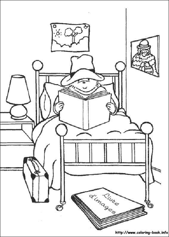 coloring page paddington bear kids n fun