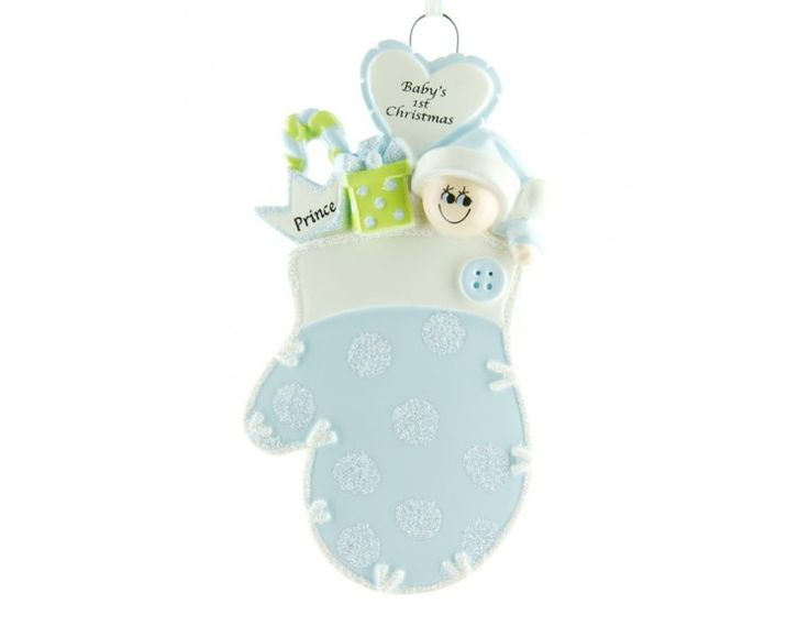 Ornament Dieťa v modrej rukavici